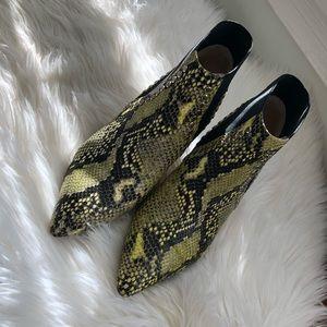 Eugenia Kim Angle Boot Yellow Snakeskin Studs
